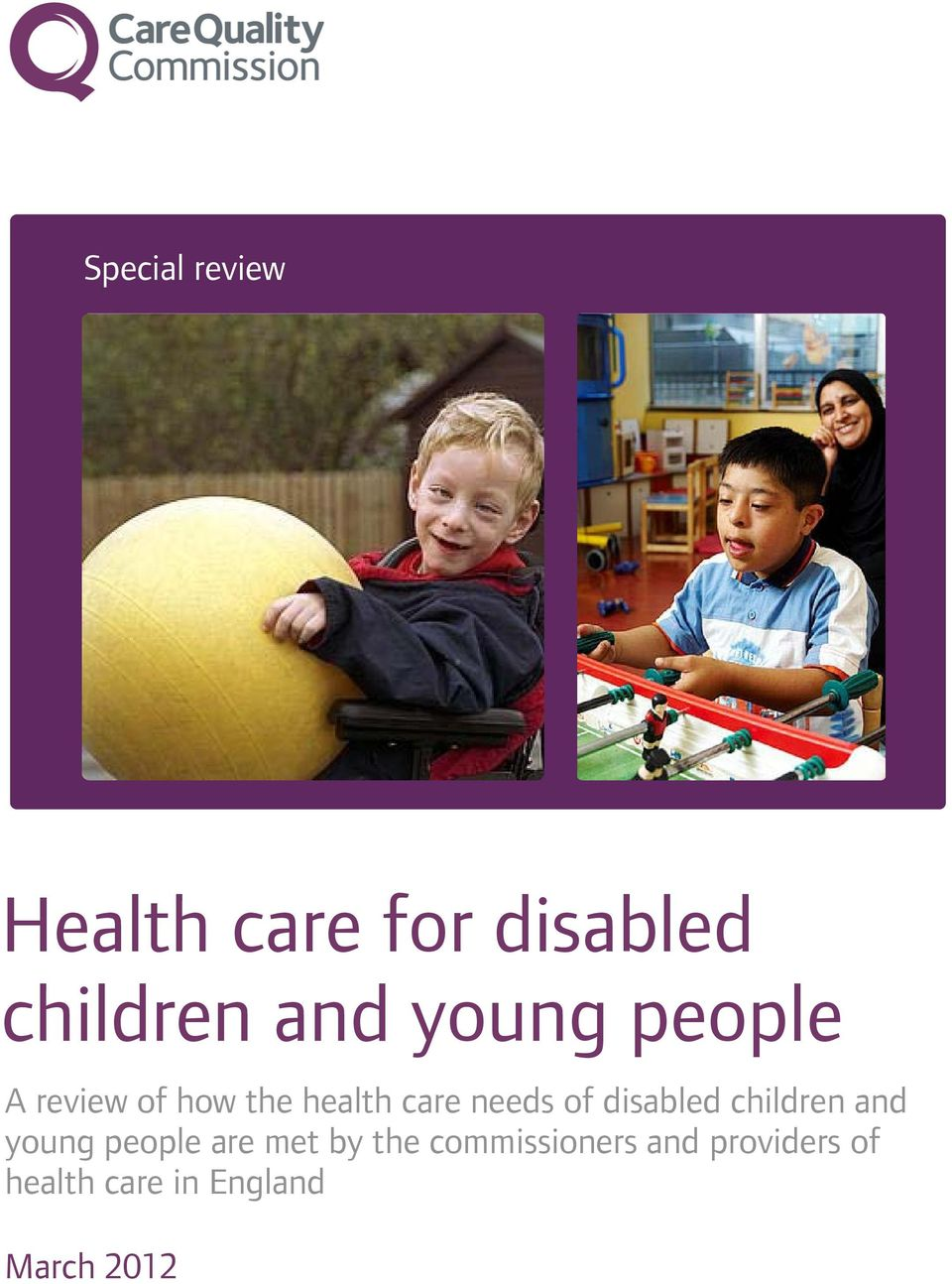 disabled children and young people are met by the