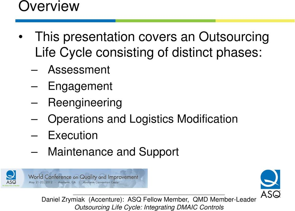 Assessment Engagement Reengineering Operations