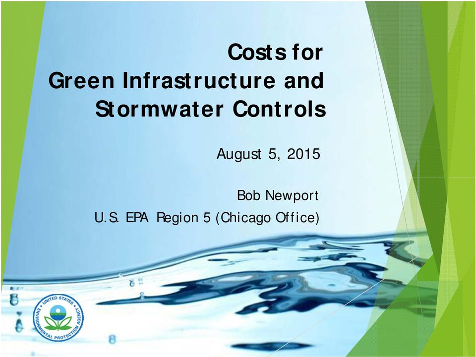 Stormwater Controls August