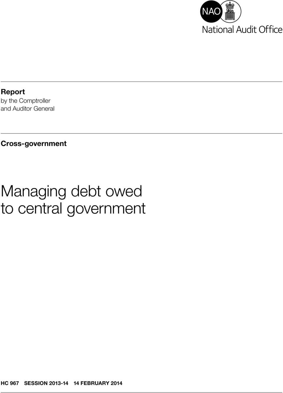 Managing debt owed to central