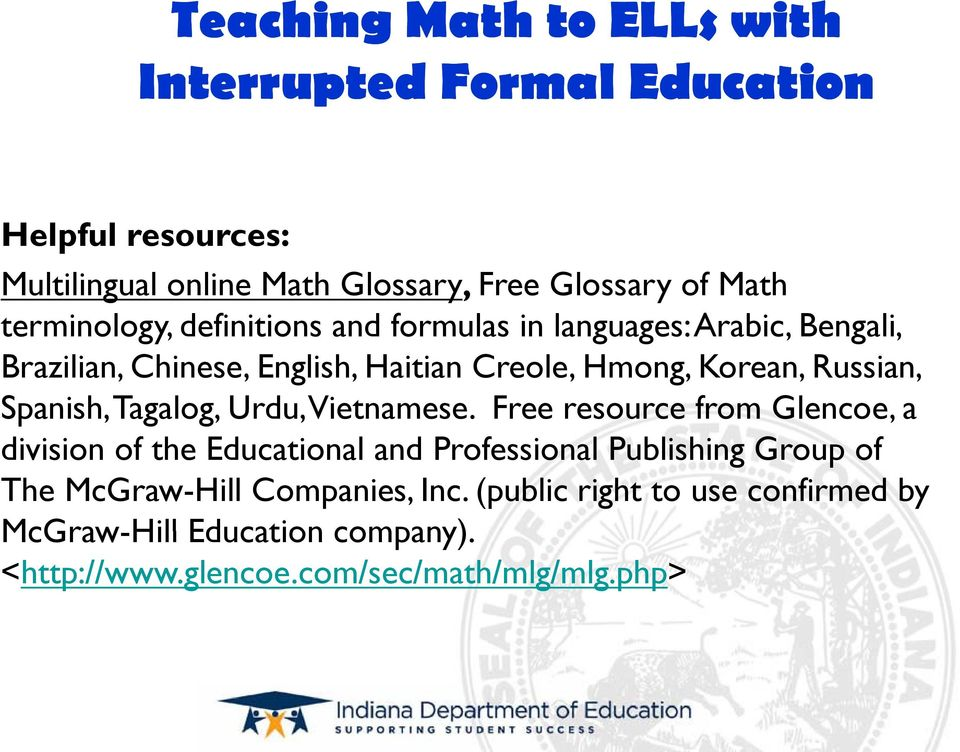 Effective Programs for English Language Learners with ...