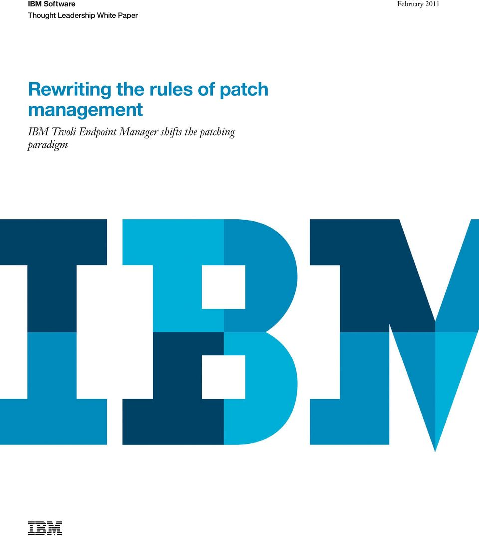 rules of patch management IBM Tivoli