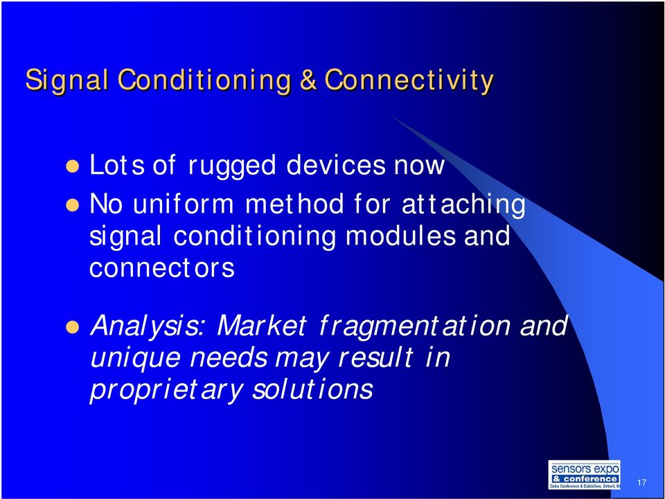 conditioning modules and connectors Analysis: Market