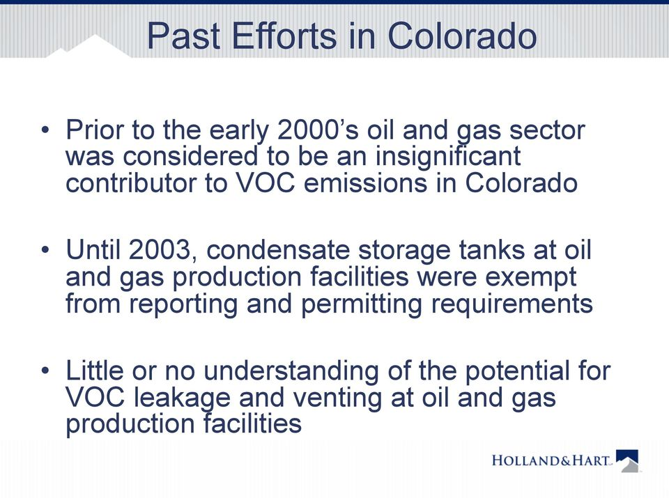 oil and gas production facilities were exempt from reporting and permitting requirements Little