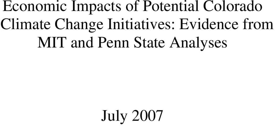 Initiatives: Evidence from