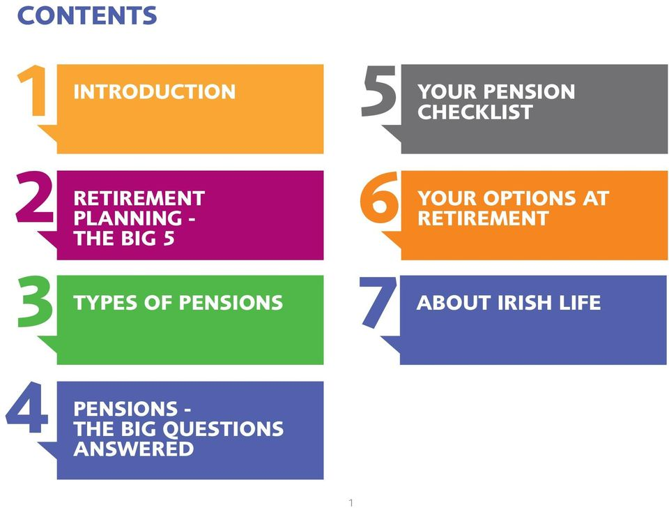 7 TYPES OF PENSIONS Your options at retirement