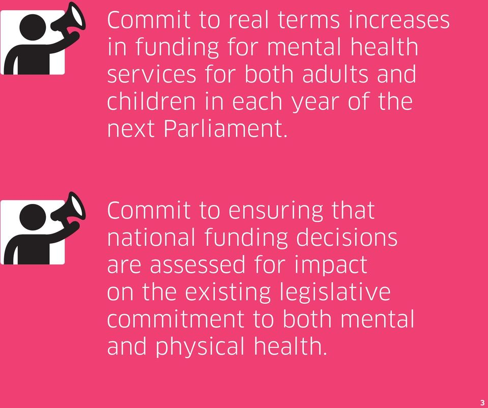 Commit to ensuring that national funding decisions are assessed for