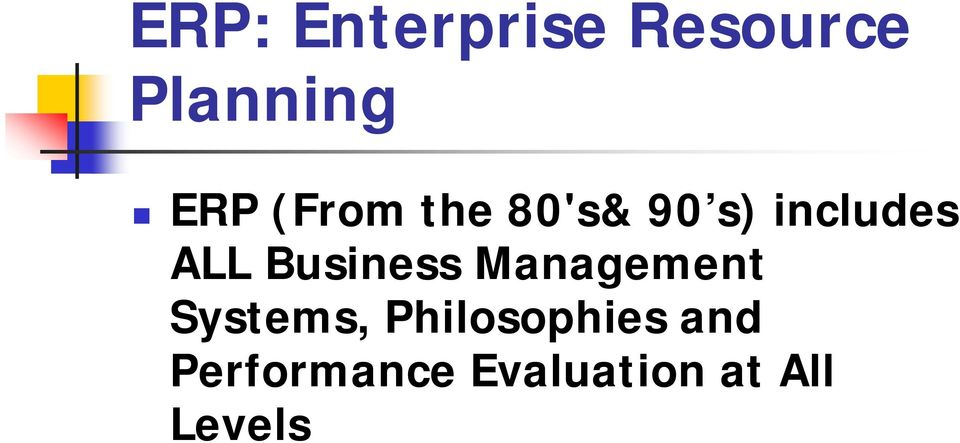 Business Management Systems,