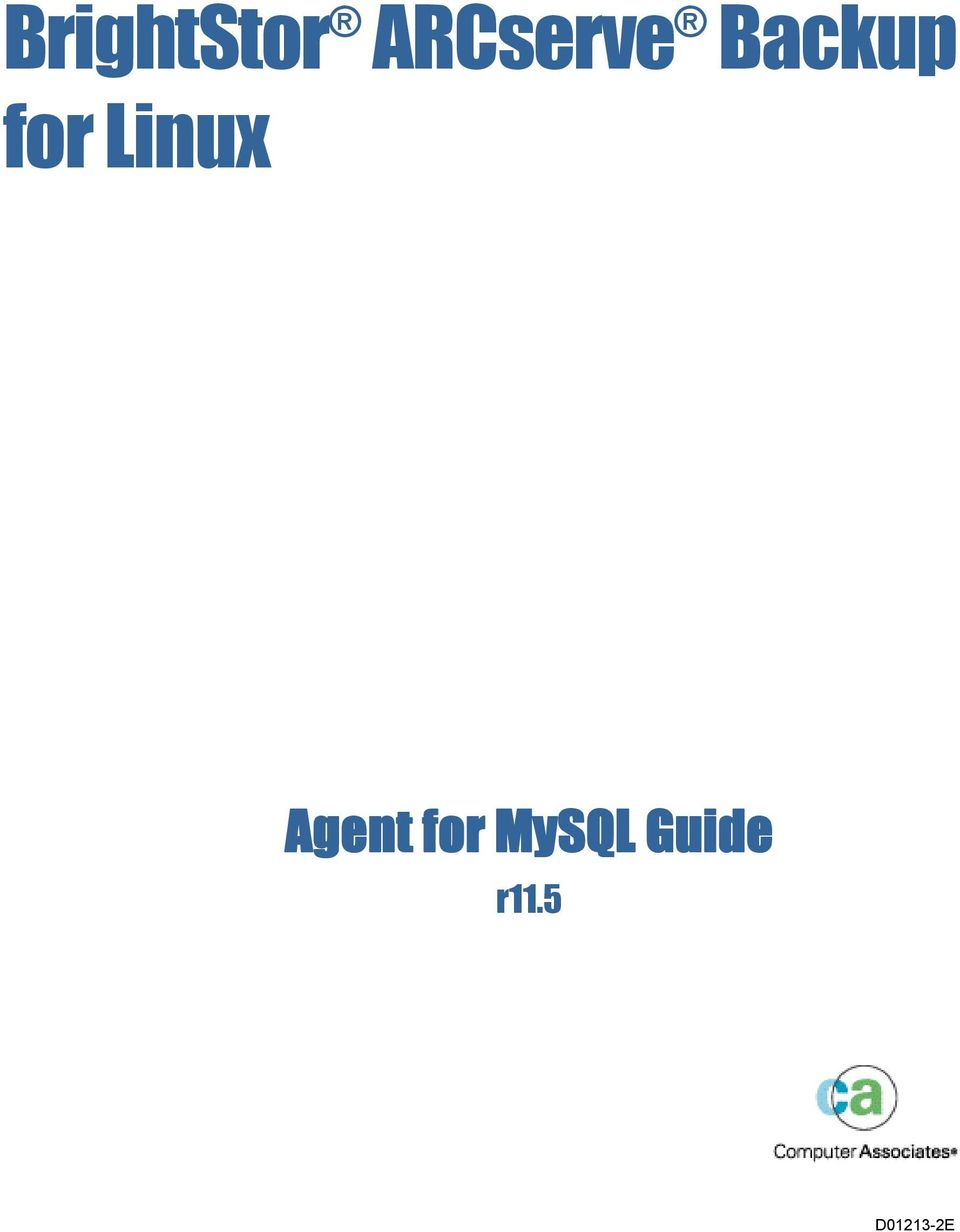 for Linux Agent