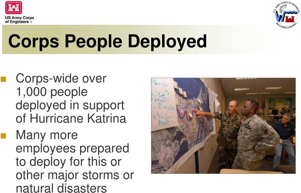 Katrina Many more employees prepared to