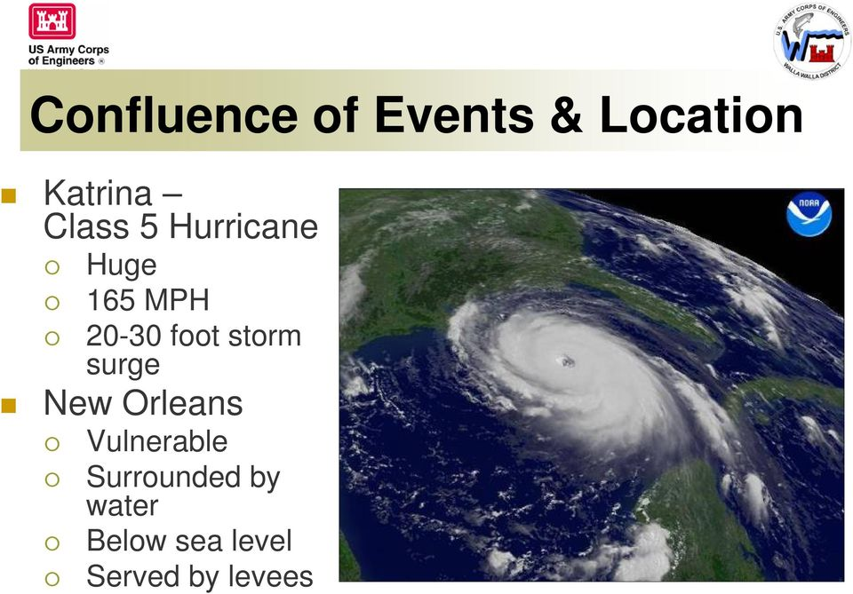 storm surge New Orleans Vulnerable