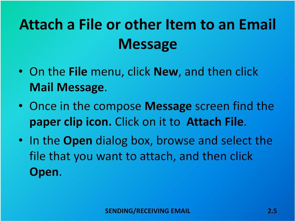 Once in the compose Message screen find the paper clip icon.
