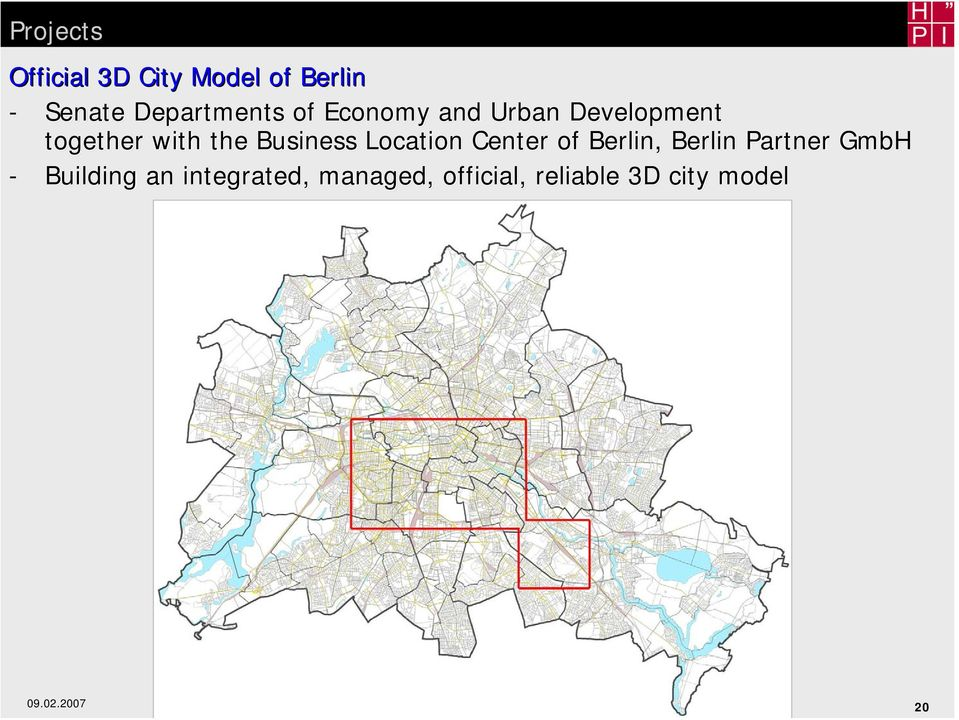 Partner GmbH - Building an integrated, managed, official, reliable 3D city