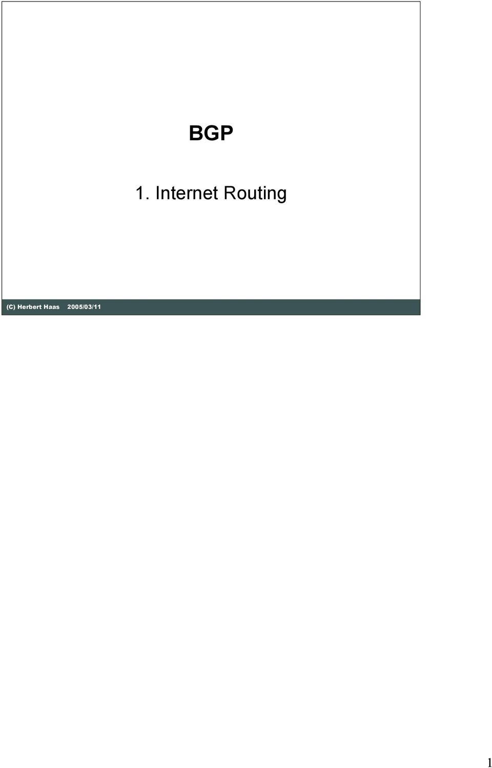 Routing (C)