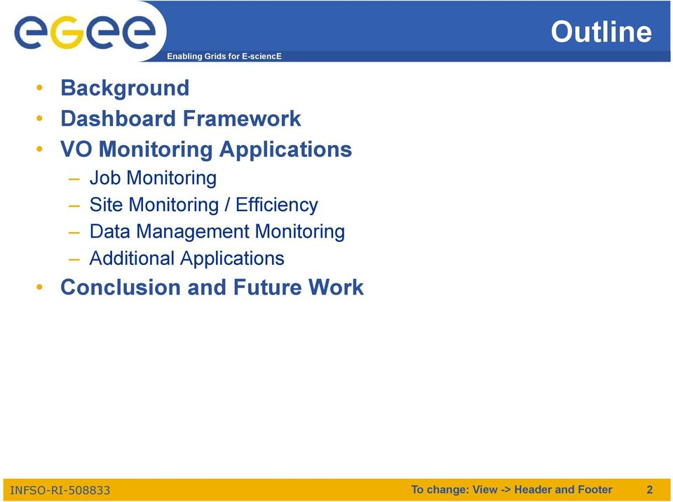 Data Management Monitoring Additional Applications