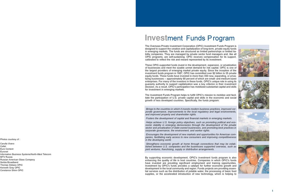 Investment Funds  Overseas Private Investment Corporation - PDF