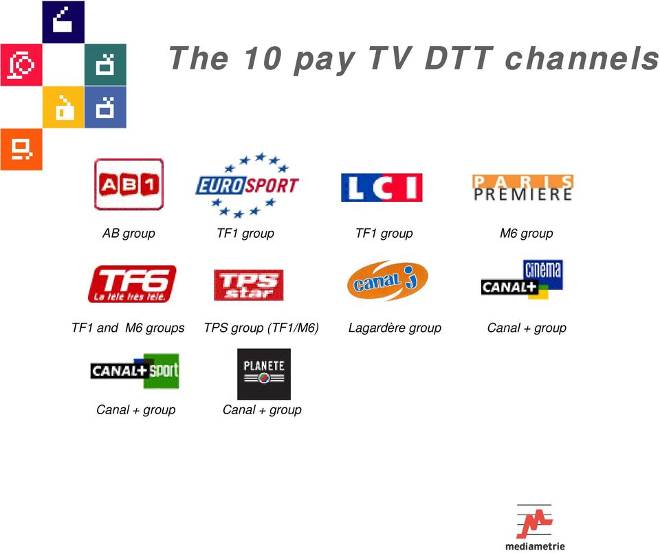 groups TPS group (TF1/M6) Lagardère