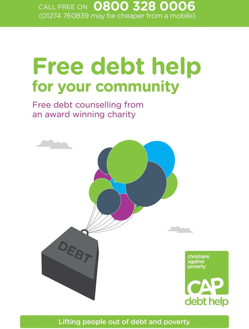 community Free debt counselling from an award