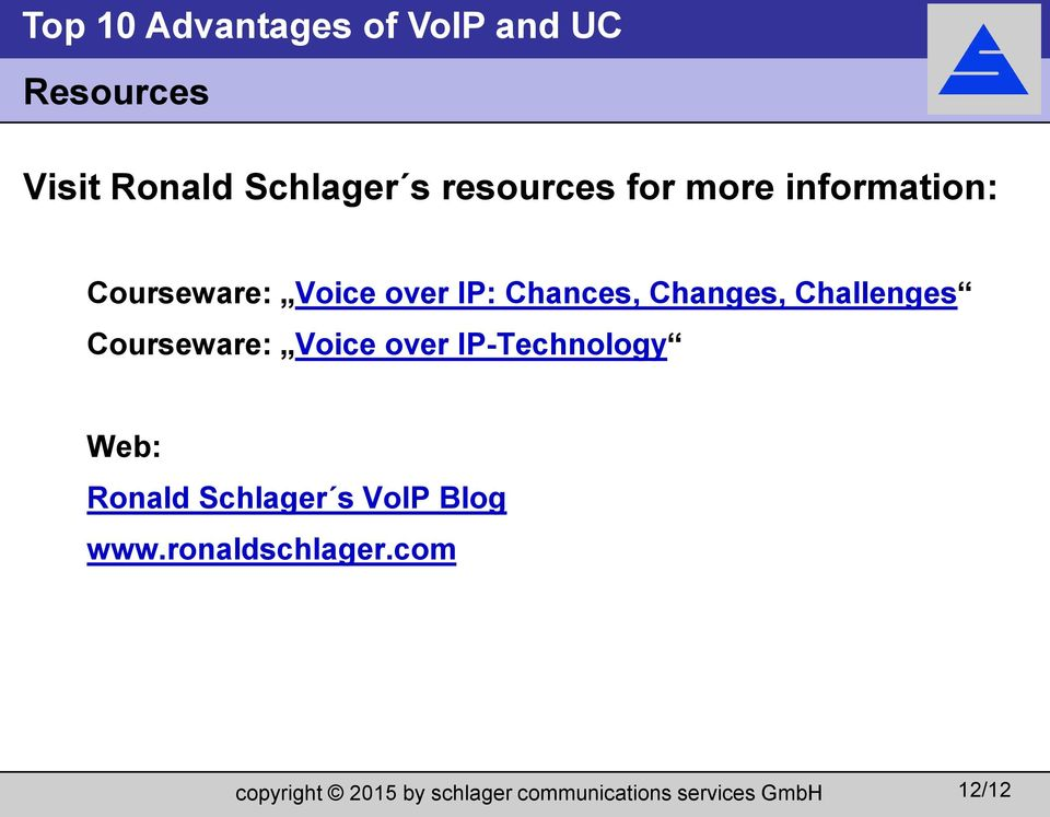 Changes, Challenges Courseware: Voice over
