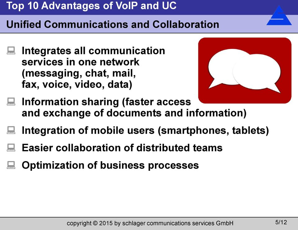 access and exchange of documents and information) Integration of mobile users