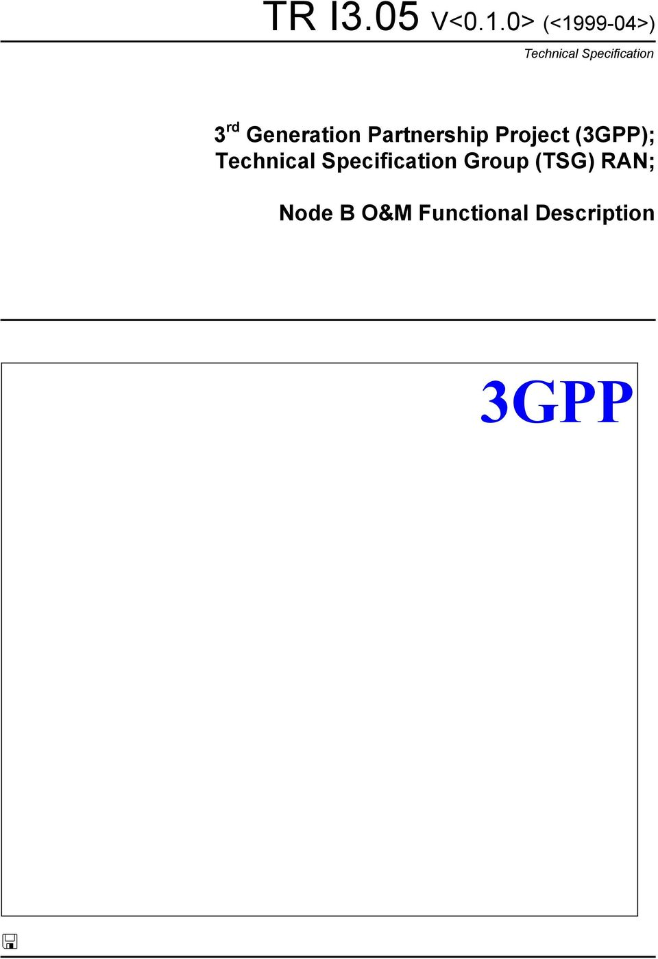 Technical Specification Group
