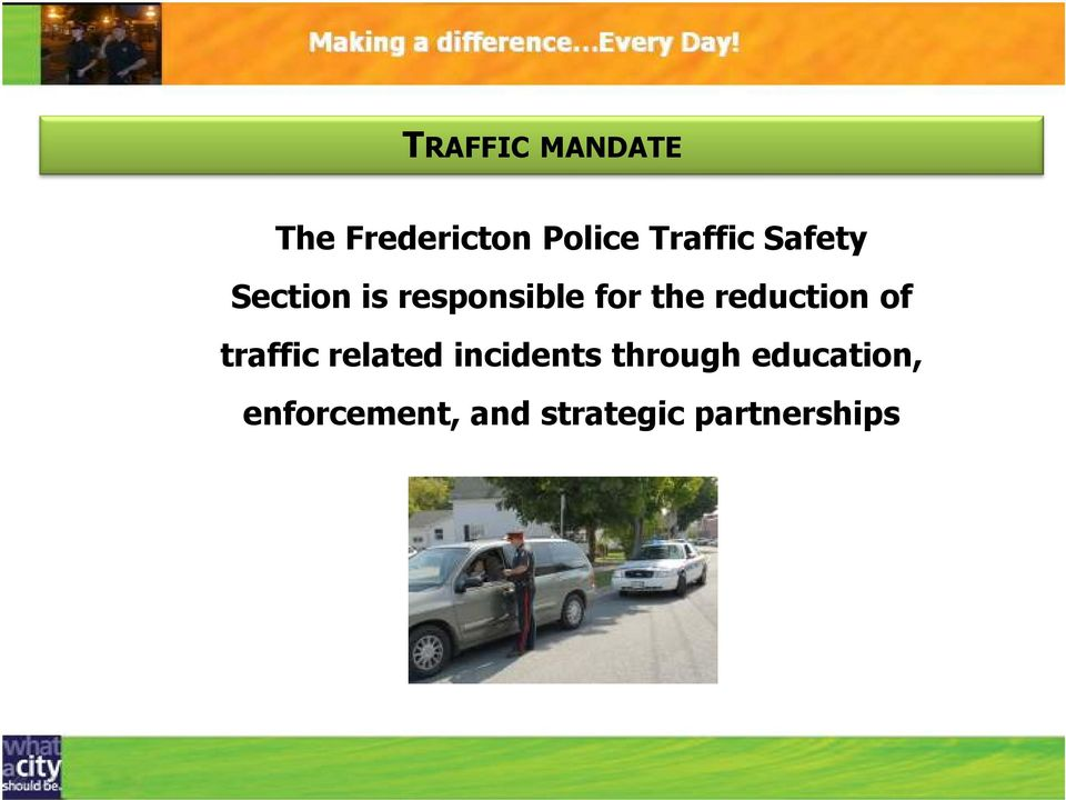 reduction of traffic related incidents