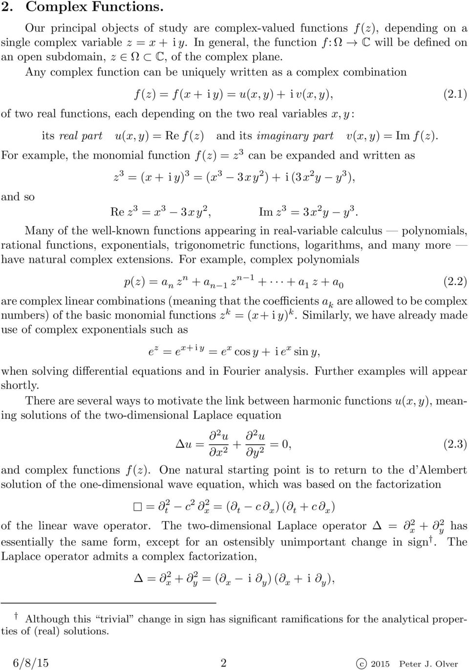 Complex Analysis and Conformal Mapping - PDF