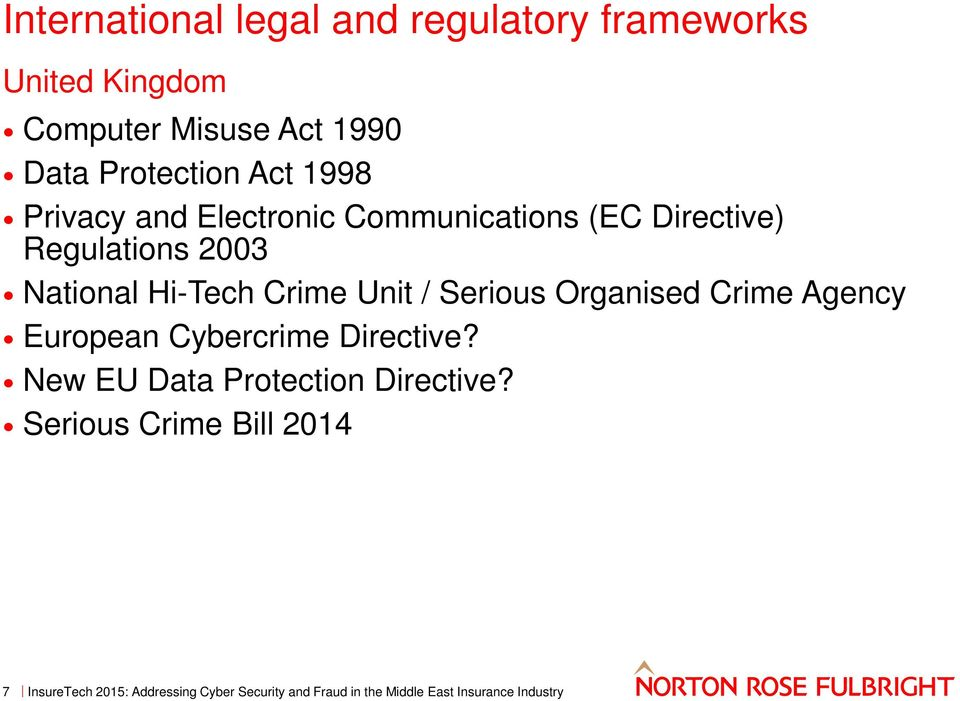 Regulations 2003 National Hi-Tech Crime Unit / Serious Organised Crime Agency