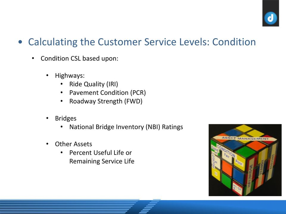 (PCR) Roadway Strength (FWD) Bridges National Bridge Inventory