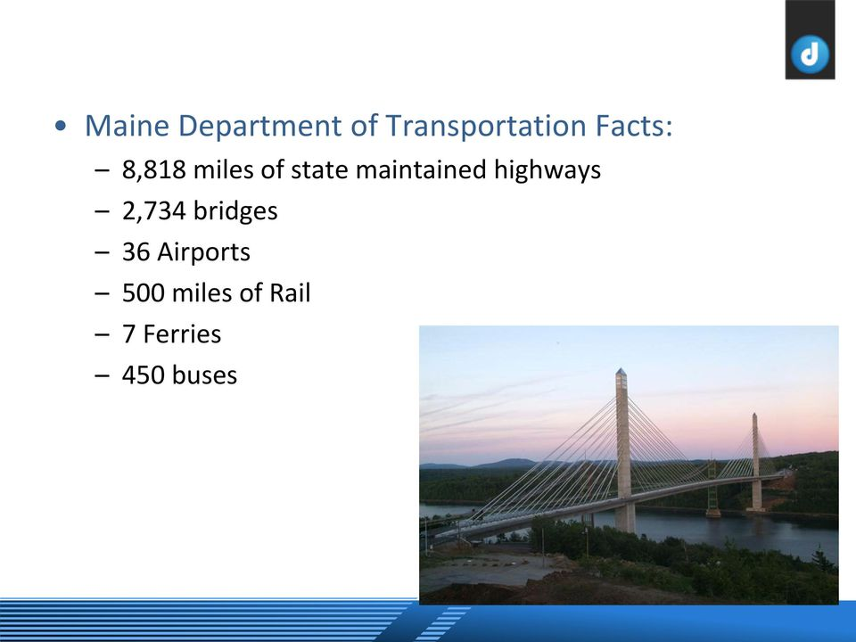 maintained highways 2,734 bridges 36