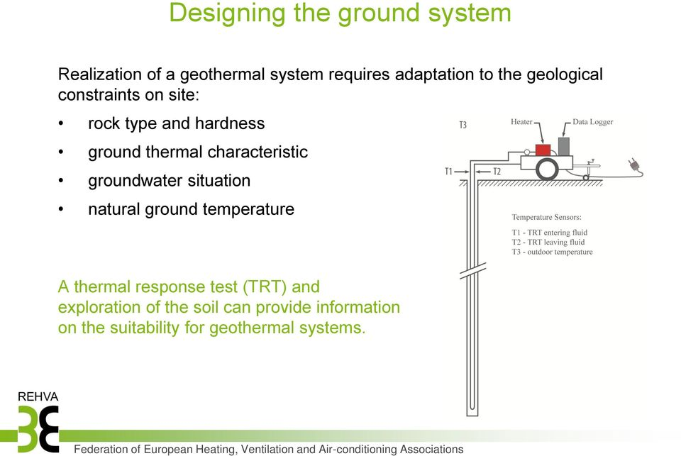 characteristic groundwater situation natural ground temperature A thermal response