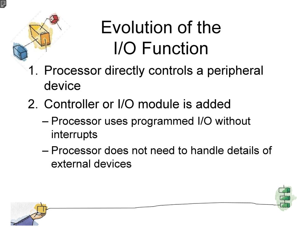 Controller or I/O module is added Processor uses