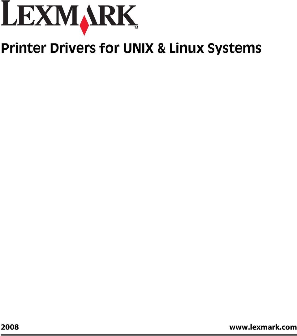 Printer Drivers for UNIX & Linux Systems - PDF