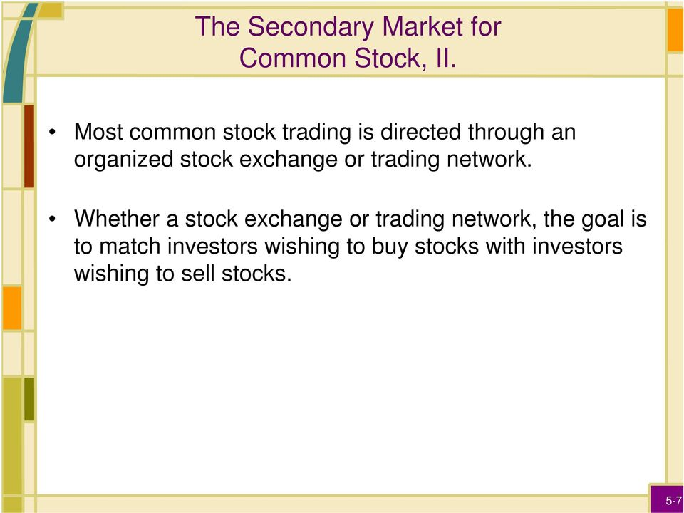 exchange or trading network.