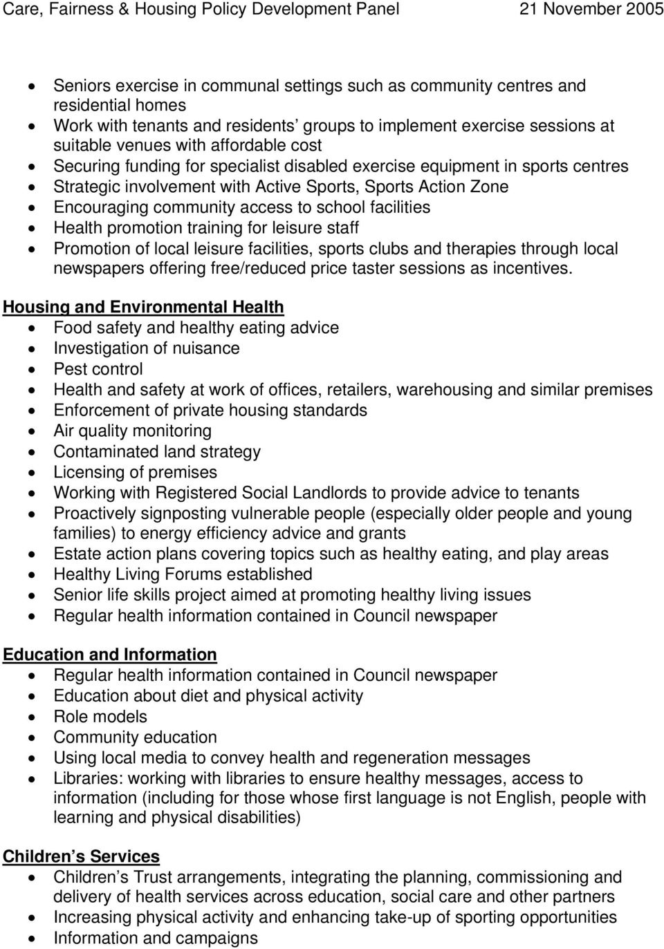 promotion training for leisure staff Promotion of local leisure facilities, sports clubs and therapies through local newspapers offering free/reduced price taster sessions as incentives.