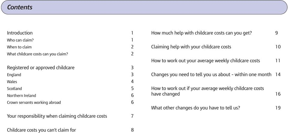How much help with childcare costs can you get?