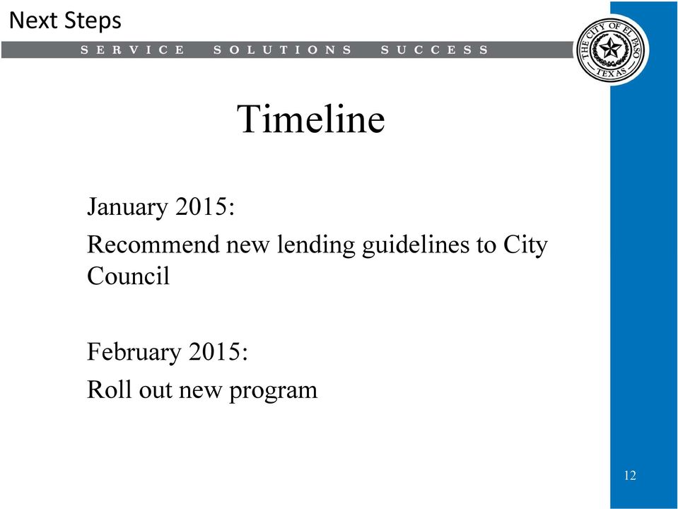 guidelines to City Council