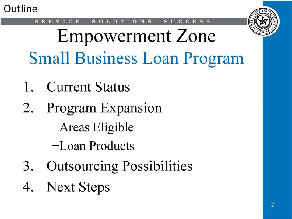 Program Expansion Areas Eligible Loan