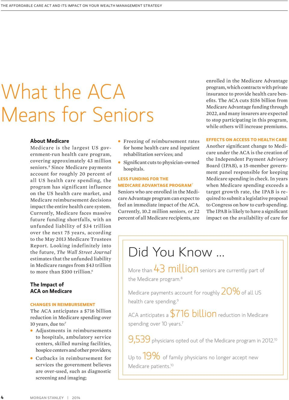 About Medicare Medicare is the largest US government-run health care program, covering approximately 43 million seniors.