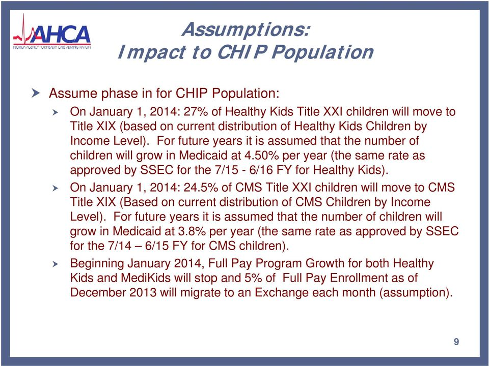 50% per year (the same rate as approved by SSEC for the 7/15-6/16 FY for Healthy Kids). On January 1, 2014: 24.