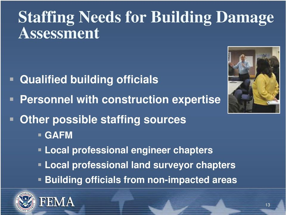 staffing sources GAFM Local professional engineer chapters Local