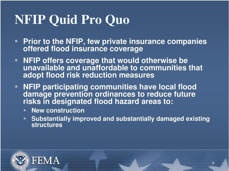 measures NFIP participating communities have local flood damage prevention ordinances to reduce future risks in