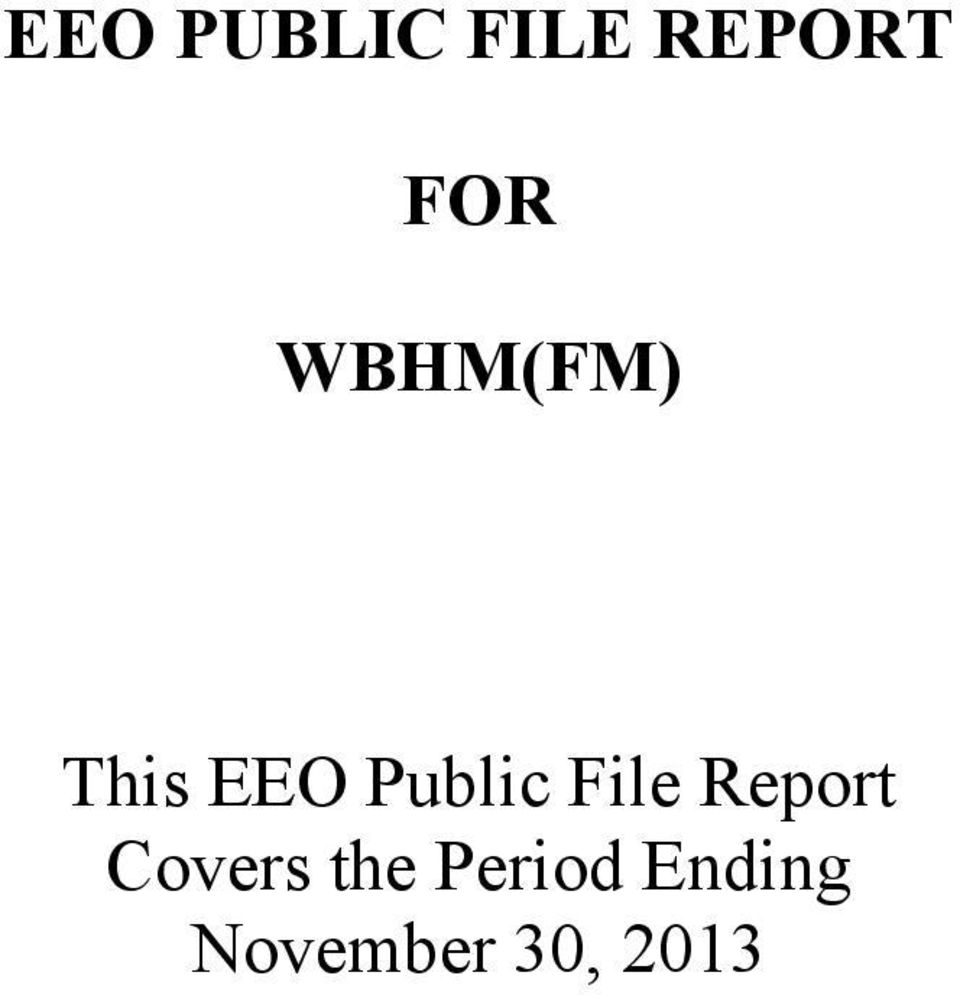 File Report Covers the