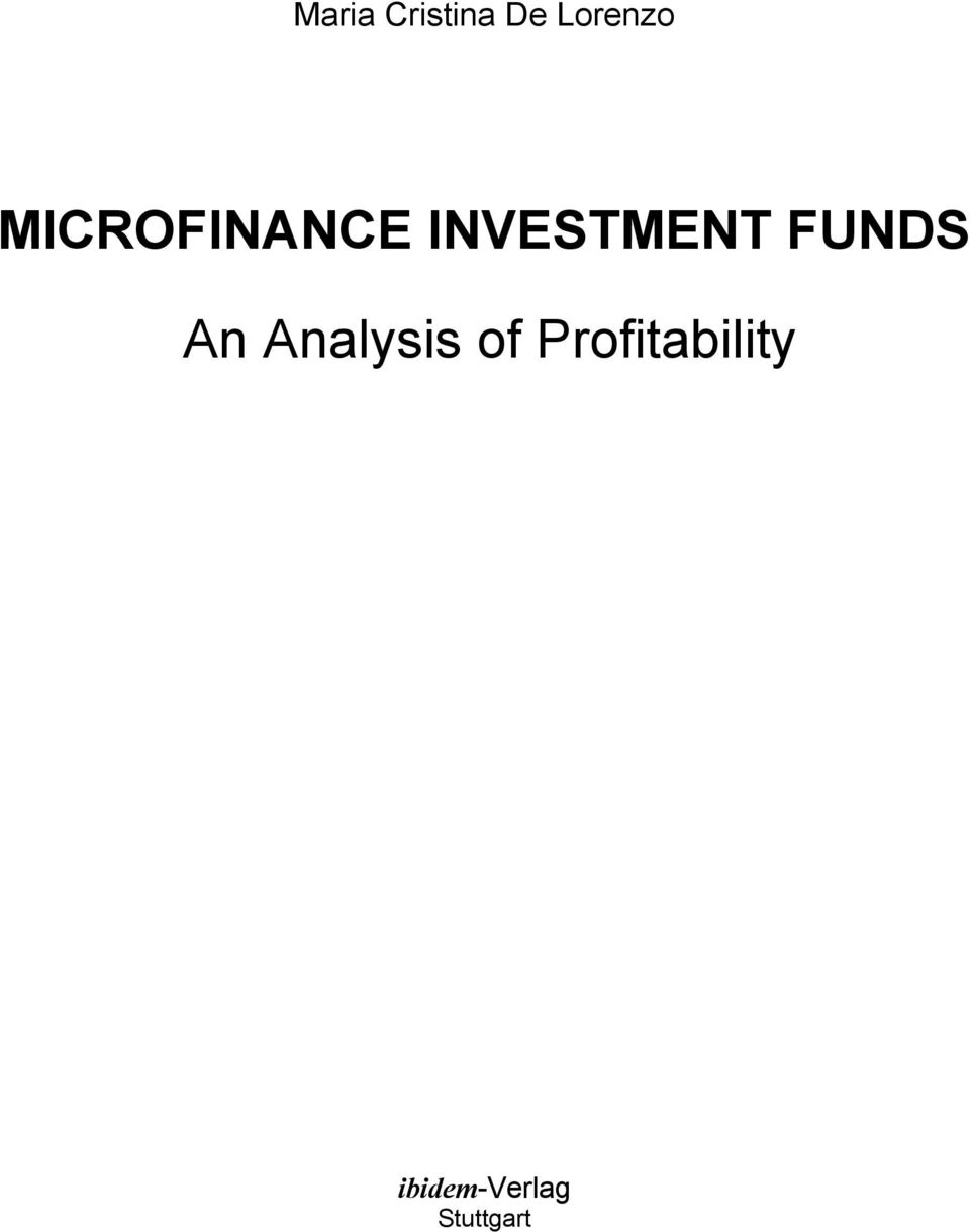 FUNDS An Analysis of