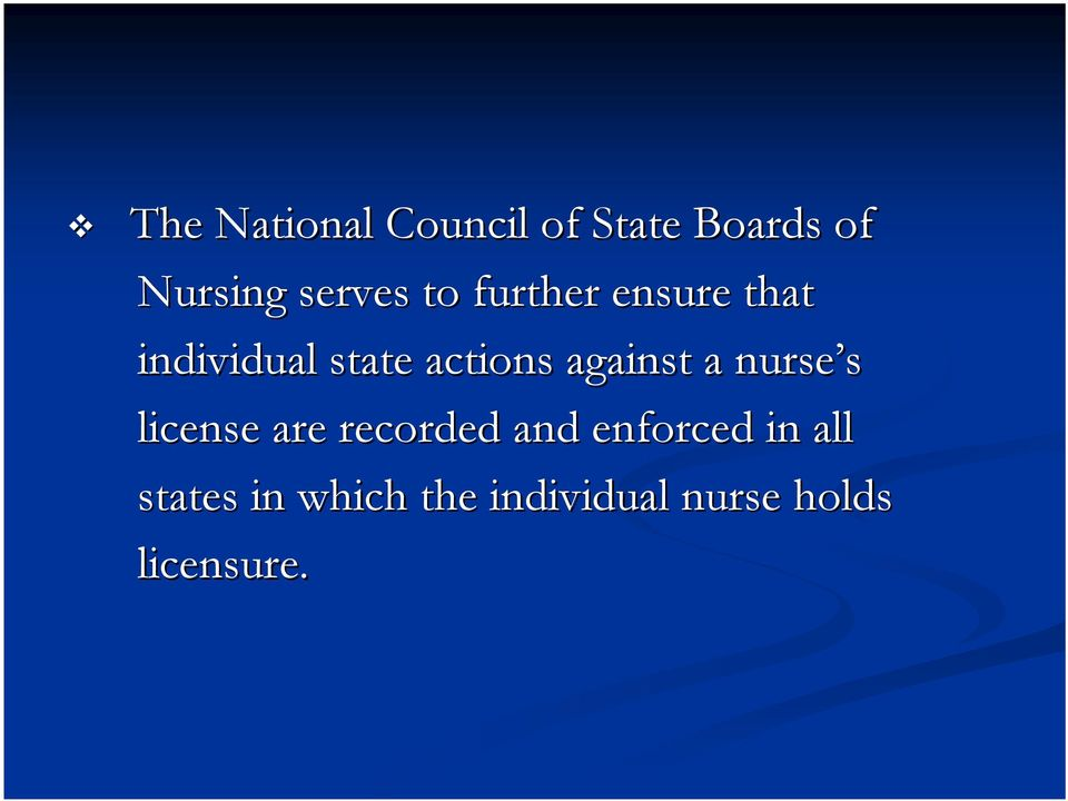 actions against a nurse s license are recorded and