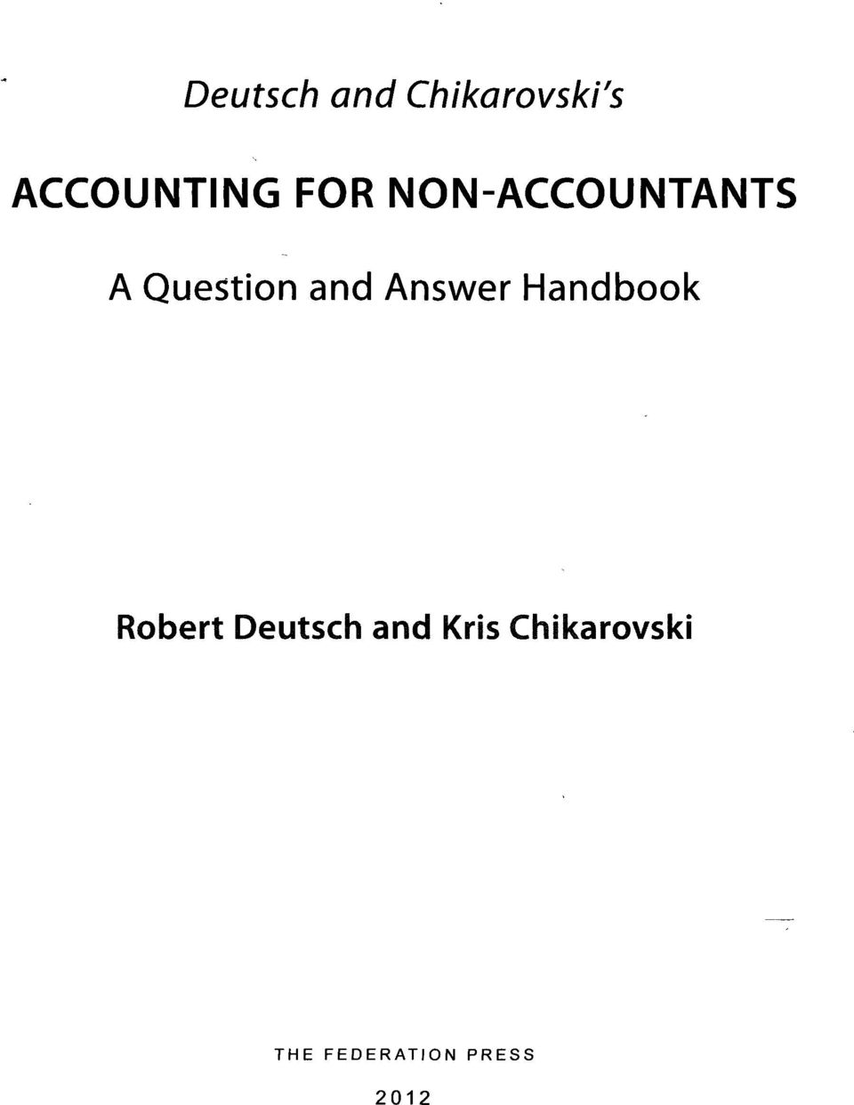 Answer Handbook Robert Deutsch and