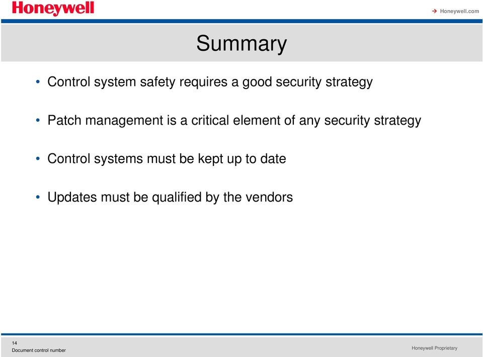 element of any security strategy Control systems