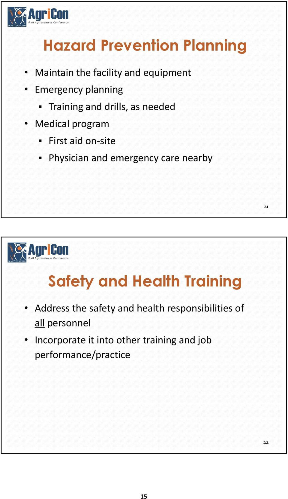 emergency care nearby 21 Safety and Health Training Address the safety and health