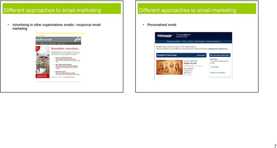 / reciprocal email marketing Personalised