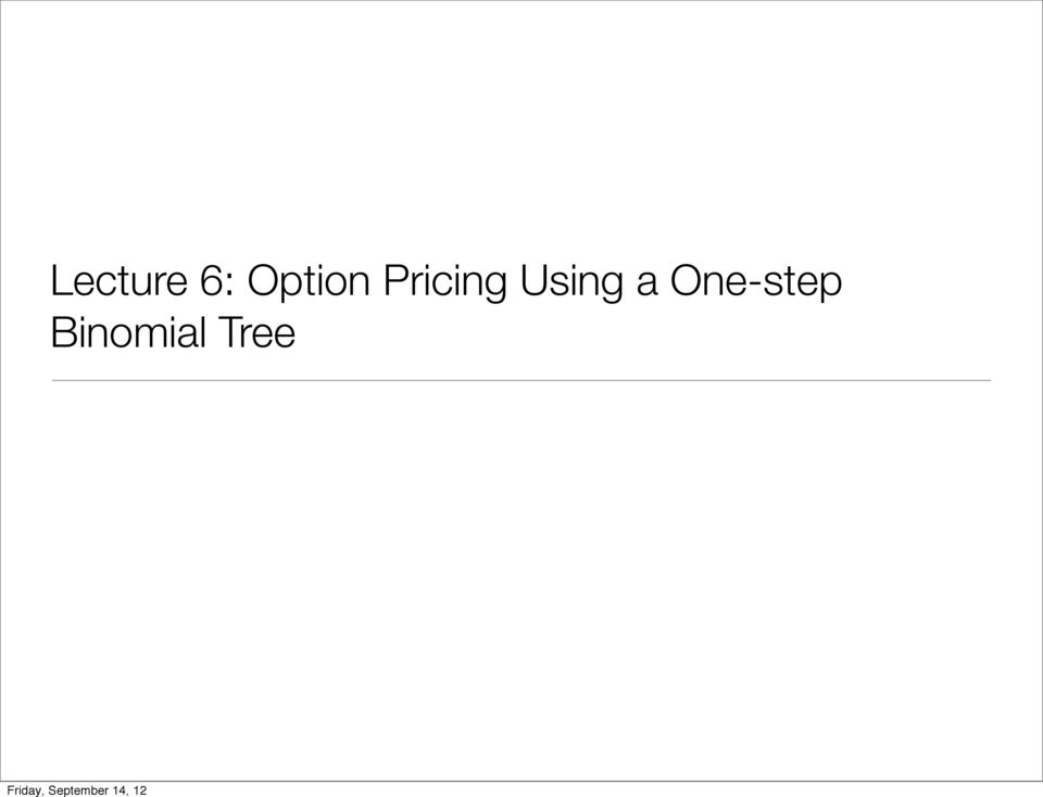 Pricing Using